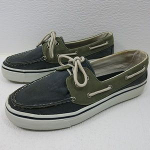 Dexter Two Tone Canvas Casual Boat Deck Shoes 8 M